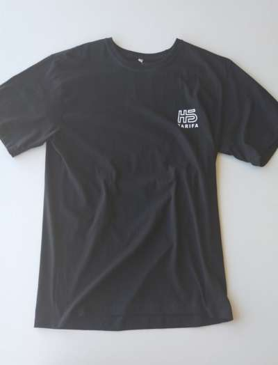 Camiseta Hotstick Tarifa Small Front & Back Box Logo design Black