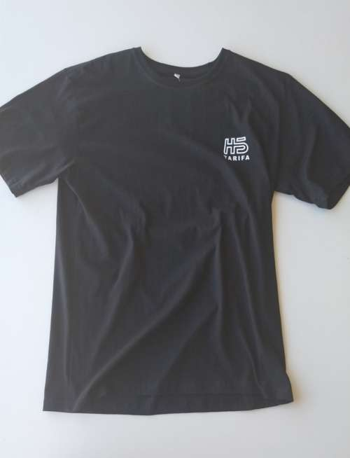 Camiseta Hotstick Tarifa Small Front & Back Box Logo design Black