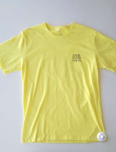 Camiseta Hotstick Tarifa Small Front & Back Logo Cross design Yellow