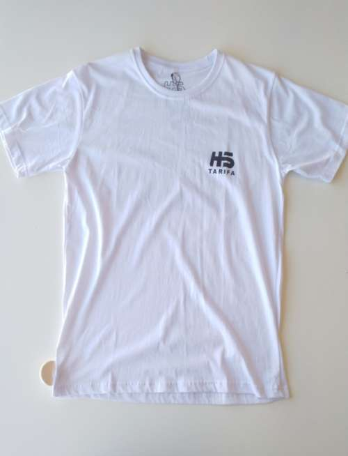 Camiseta Hotstick Tarifa Small Front & Back Logo Surf CO design White